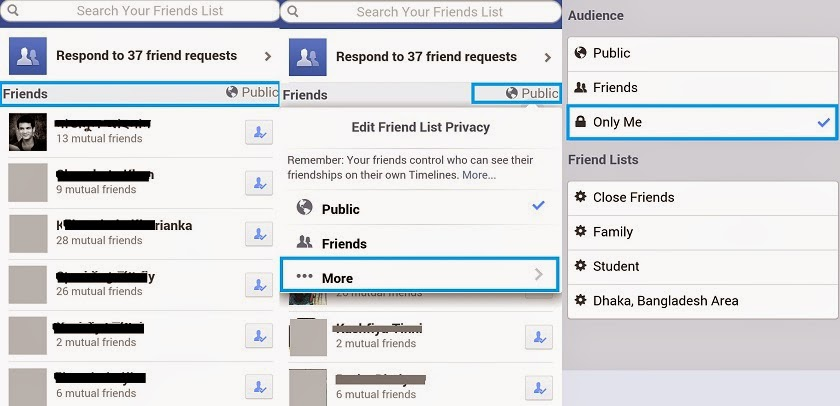 How to hide a facebook account please where