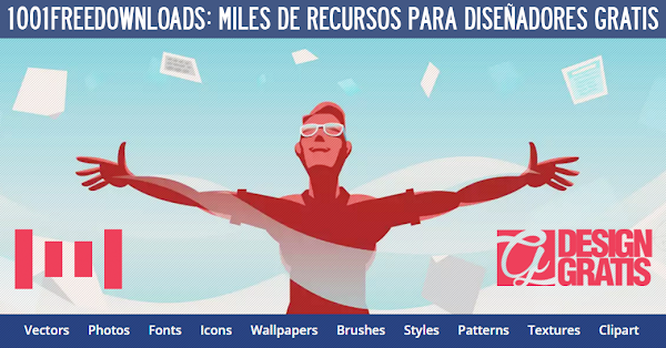 1001freedownloads: Una Web con miles de recursos gratis para diseñadores
