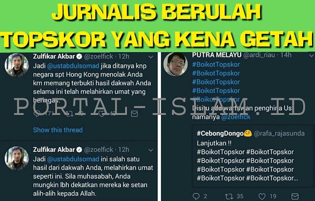 Jurnalis Tuding Dakwah Ust. Abdul Somad, Netizen Serukan: Boikot TOPSKOR!
