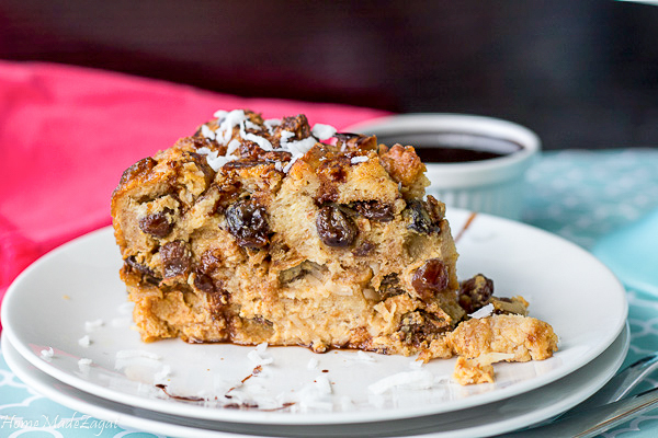 How to make coconut bread pudding