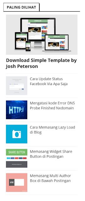 Widget Popular Post