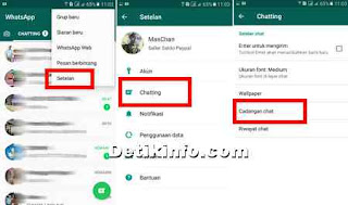 cara setting pencadangan data chat whatsapp