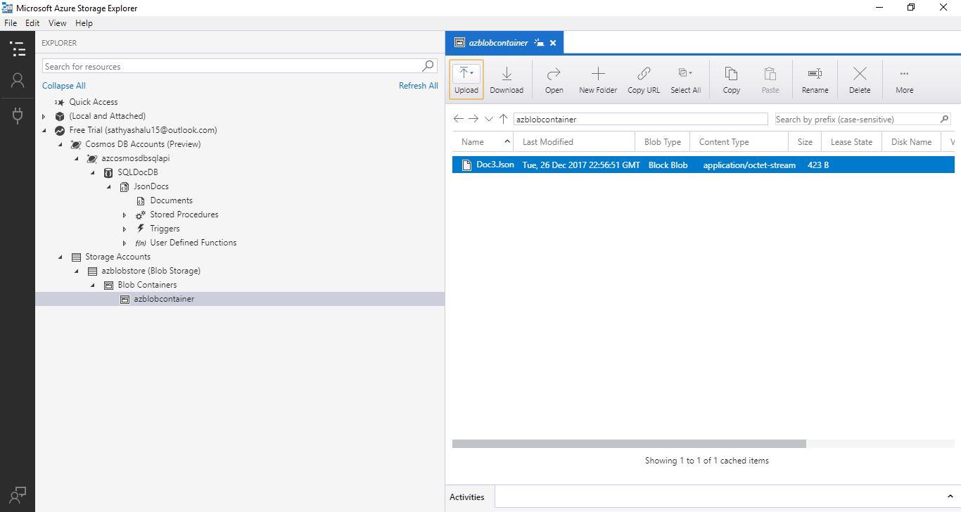 All about SQLServer: Azure Storage Explorer