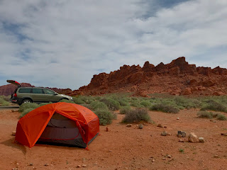 We camped at Valley of Fire