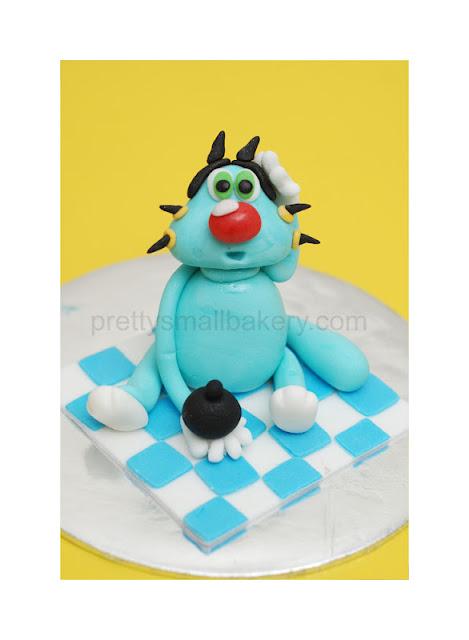 kek birthday  figurine OGGY N COACROACHES seksyen 7