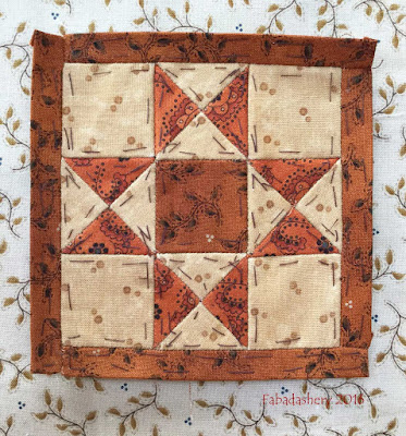 Dear Jane Quilt - Block H7 Bennington Star