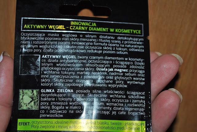 maseczki z aktywnym węglem glinka zielona oczyszczanie maska węglowa