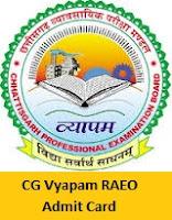 CG Vyapam RAEO Admit Card