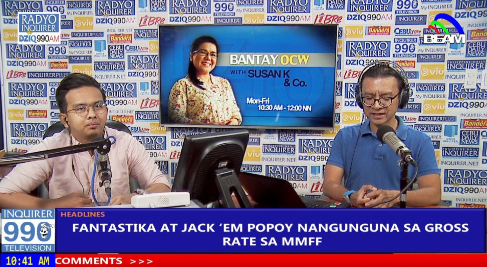 MMFF 2018 Spokesperson Noel Ferrer reports that Fantastica and Jack Em Popoy are raking in box office.