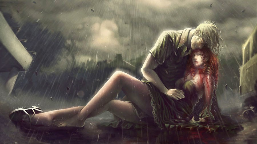 Alone Lonely Anime In Rain | I'm So Lonely...