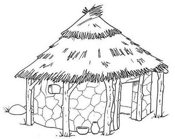 Dibujos De Casas Para Colorear Para Ninos: Evangeliza!: Desenhos Para Colorir Dia Do Indio, Dia Do
