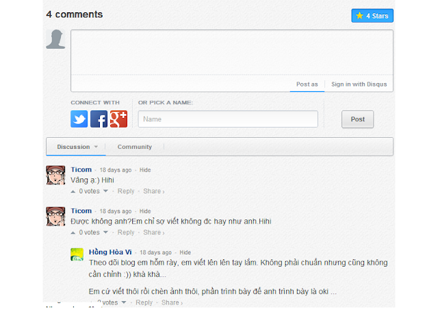 Giao diện New Disqus 2012