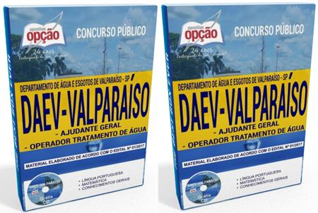 apostila Concurso DAEV Valparaíso Ajudante Geral e Operador Tratamento de Água