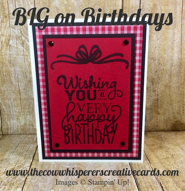 Card, Big On Birthdays, Quilted Christmas Designer Series Paper