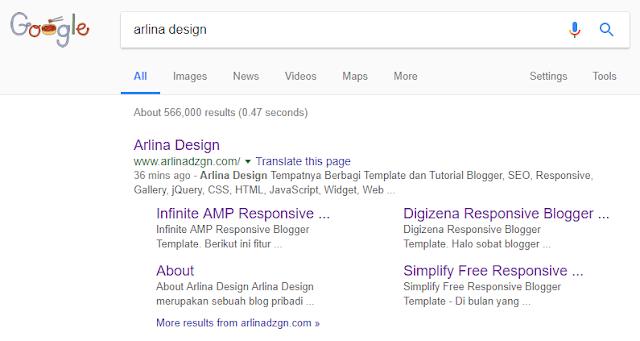 Penyebab Hilangnya Sitelink Blog dari Google