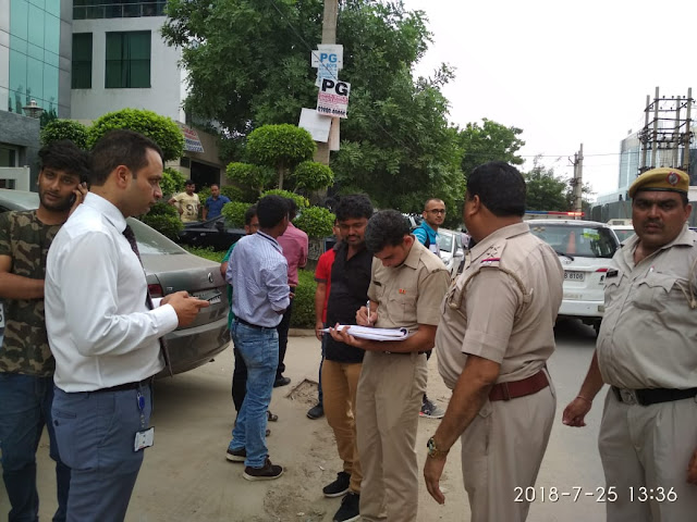 Haryana police officers conducted training on ketapa, and the consequences of tobacco go