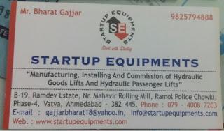 STARTUP EQUIPMENTS - 9825794888 Bharat Gajjar