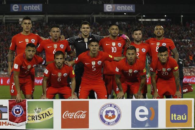 Formación de Chile ante Bolivia, Clasificatorias Rusia 2018, 6 de septiembre de 2016