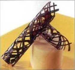 ажурный декор из шоколада