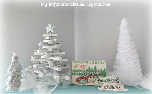 A Thrift Store Christmas Tree Farm mythriftstoreaddiction.blogspot.com Upcycle old thrift store finds to create this wintry Christmas tree farm