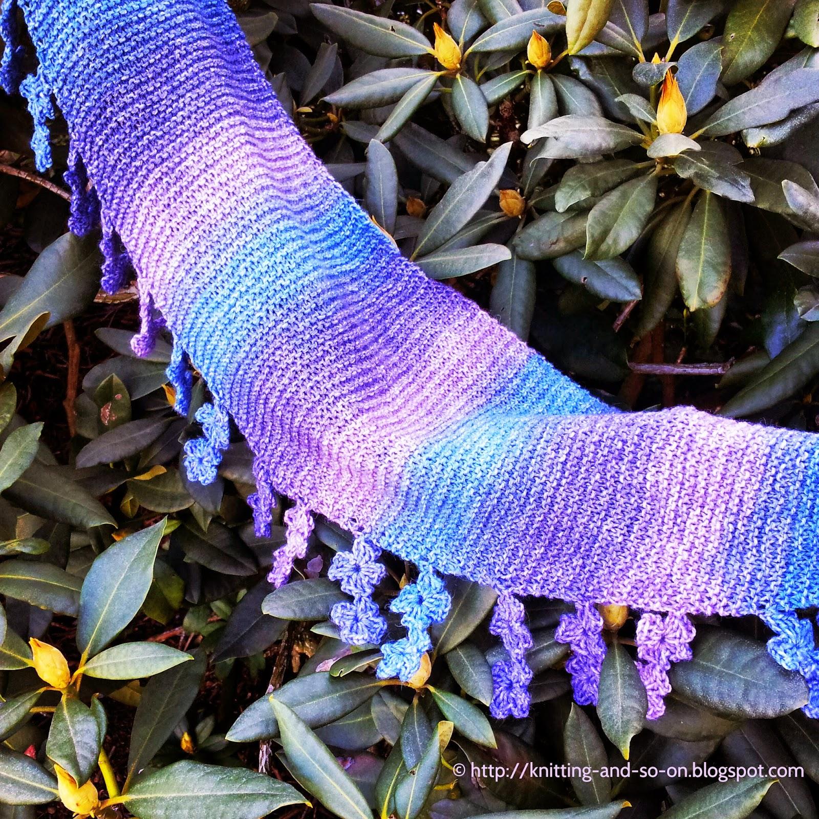 Free Knitting/Crochet Pattern: Falling Blossoms Scarf