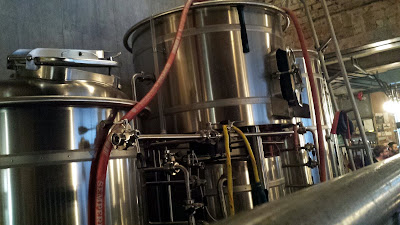 Crowbar & Bryggeri's brewhouse.