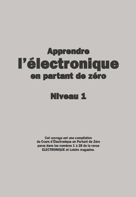 Apprendre l'électronique en partant de zéro Niveau 1 pdf gratuit