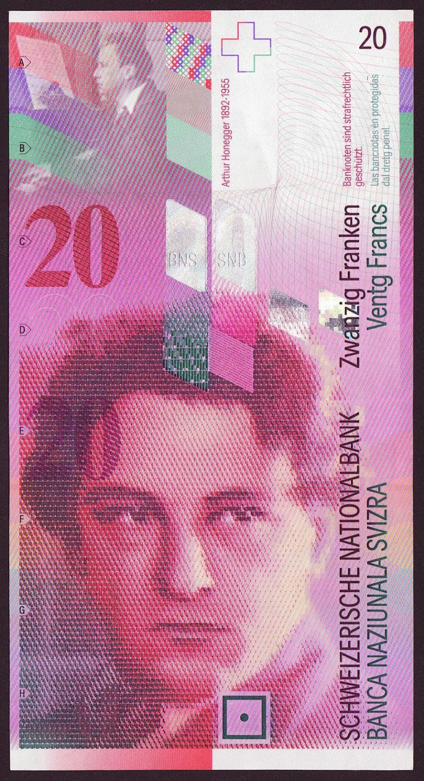 Switzerland Banknotes 20 Swiss Francs