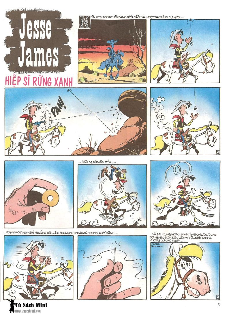 Lucky Luke tap 16 - jesse james hiep si rung xanh trang 5