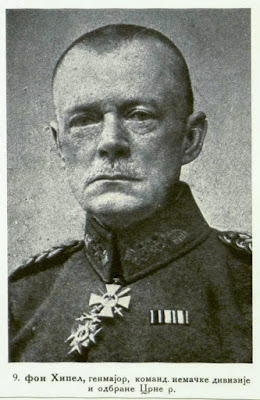 von Hippel Major-General Commandant of the German division at the defence of Crna Reka. sector