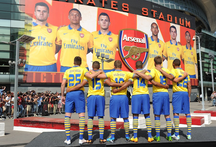7956f729c0e Arsenal 2013-14 Home Kit will be the same as the 12-13 Home Kit and Arsenal  13-14 Away Kit is again sponsored by Fly Emirates.