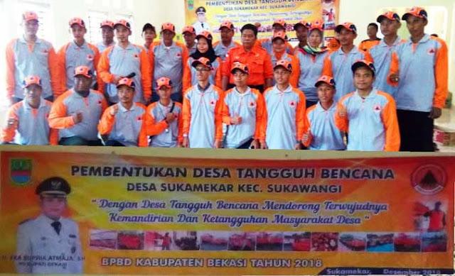 BPBD Kabupaten Bekasi Bentuk DESTANA Sukamekar Sukawangi