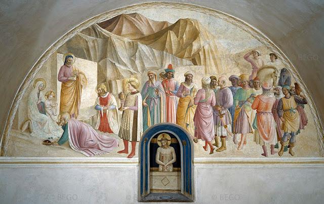Obras de arte no Museu San Marco em Florença