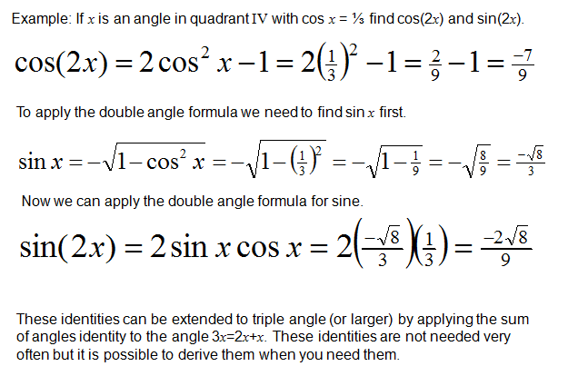 Analytic Trigonometry Double-Angle, Half-Angle and Product-Sum Formulas,formula sheet,