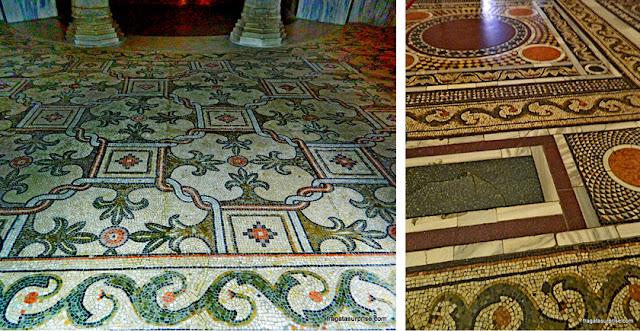 Mosaicos bizantinos no piso da Basílica de San Vitale, em Ravena, Itália