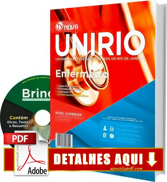 Apostila UNIRIO 2016 Enfermeiro Impressa