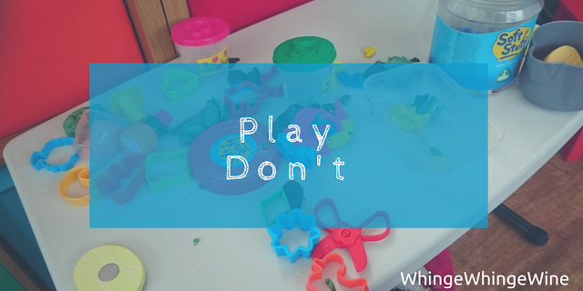 Play don't - i regret bringing play doh into our house