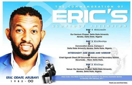 eric arubayi buried