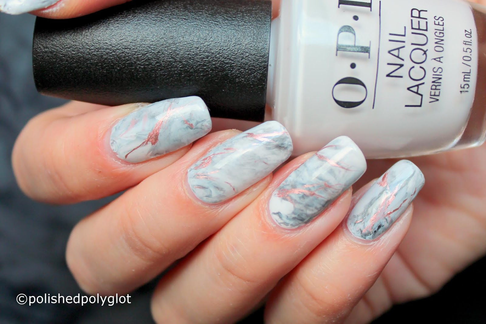 Nail Art │ White Marble Nails [26 Great Nail Art Ideas] / Polished ...