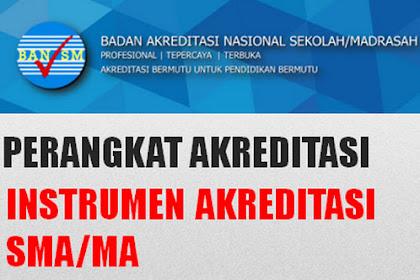 Instrumen dan perangkat akreditasi SMA/MA