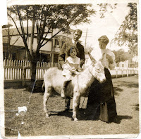 Kerrville Texas child on donkey 1905
