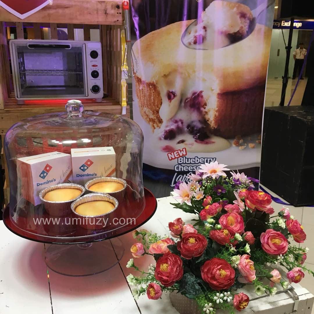 Domino's Piza Terkini Dengan Blueberry Cheesecake Lava Cake