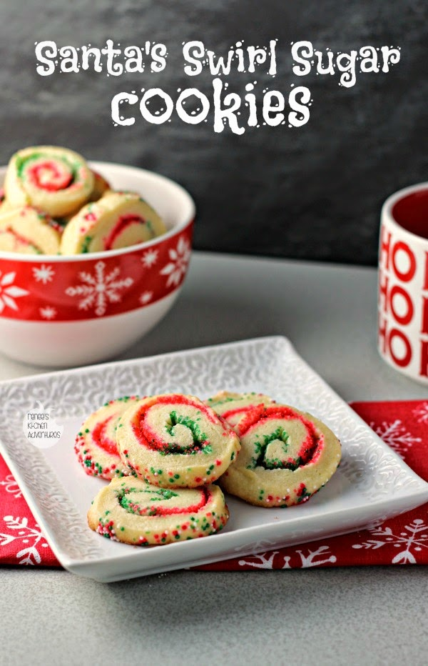 santas swirl sugar cookies by renees kitchen adventures easy holiday cookie recipe that transforms