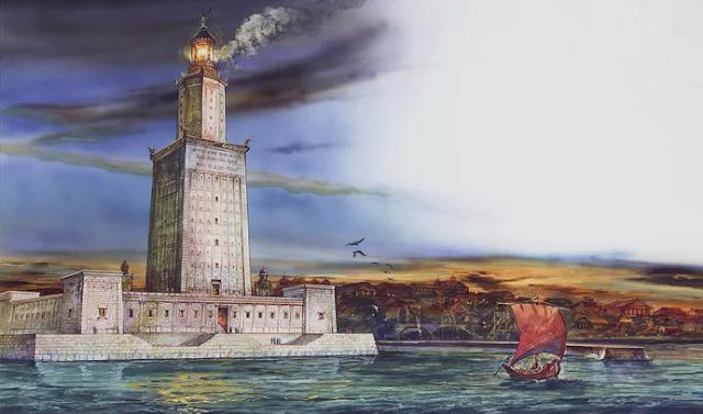 منارة الأسكنـدريـة,منارة,فنار,فاروس,عجائب الـدنيا السبع,عجائب العالم القـديم