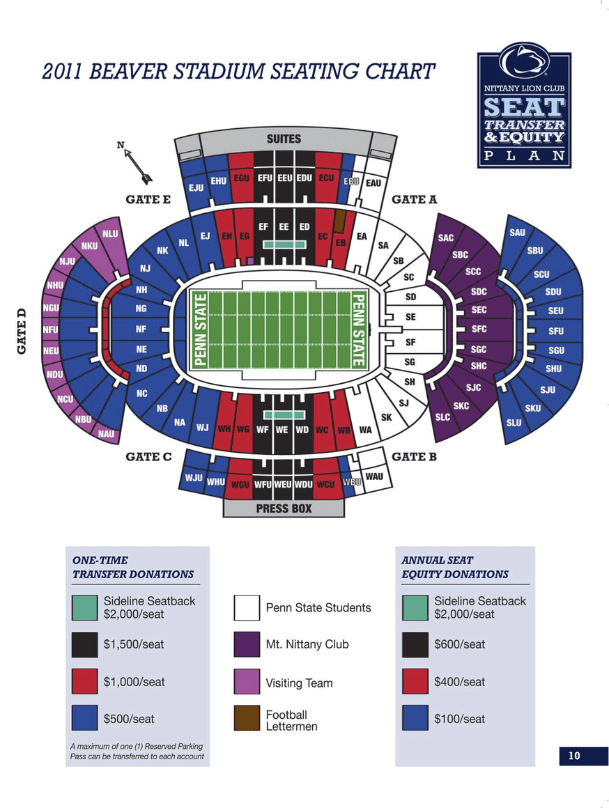 Beaver Stadium Na Seat Views SeatGeek - beaver stadium seating chart