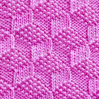 Reversible Knitting - Free Knitting Stitch Pattern. Tumbling Moss Blocks is a simple, reversible with moss and garter stitches.