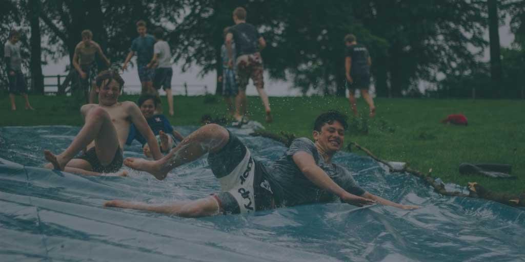 Sliding and having fun