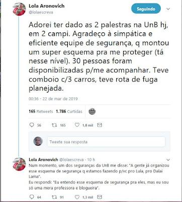 Twittes de Lola Aronovich
