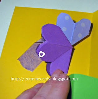 three flower pop up card flower placement