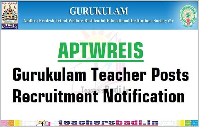 APTWREIS,Gurukulam,Teachers Recruitment